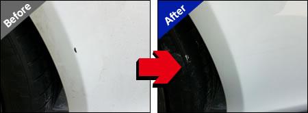 AUDI RS5の修理前と修理後